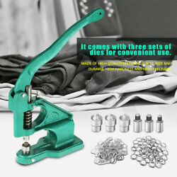 1pc Hand Press Grommet Eyelet Machine With 3 Dies And 1500pcs Grommets 6/10/12mm