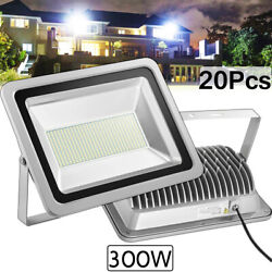 20x 300w Led Flood Light Cool White Camping Outdoor Lighting Security Wall Lamp