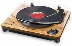 Ion Audio Record Player Bluetooth Compatible Usb Terminal Air Lp Natural Wood