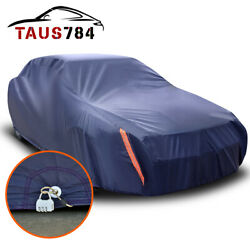 Full Car Cover For Outdoor Sun Dust Scratch Resistant Waterproof Shelter W/ Lock