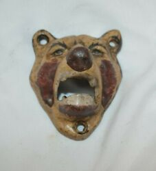 Vintage Style Antique Cast Iron Bear Beer Bottle Opener Wall Mounted Pub