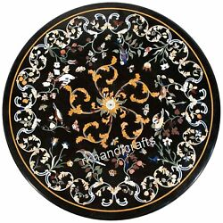 Cottage Handicrafts Black Dining Table Top Marble Restaurant Table Top 42 Inches