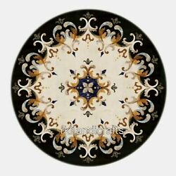 42 Inches Marble Patio Table Top For Royal Look Dining Table With Gemstones Work