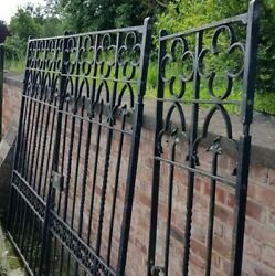 Grand Iron Entrance Gates With Slide Gate