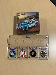 All 5 Lego Vip Limited Edition Collectible Coins With Display Case Ships Free