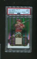 2013 Topps Tribute To The Stars Relic Mt Green /40 Psa 9 Rare Sp Pop 2
