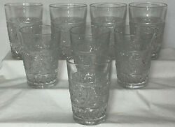 8 Duncan And Miller Sandwich Crystal 4 1/2 - 9 Oz Flat Water Tumblers