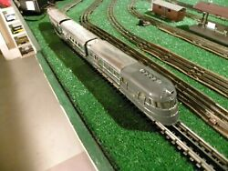 Lionel Flying Yankee 616 617 618 -2 Vestibules - Gray Top - Whistle - Fast Ship
