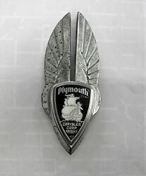 1930and039s Plymouth Medallion Grille Hood Ornament Winged Badge Emblem