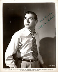American Film And Tv Actor Stephen Mcnally ,signed Vintage Studio Photo