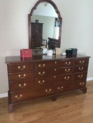 Harden Chippendale Style Cherry Bureau With Mirror