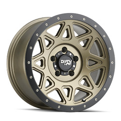 20 Inch 6x135 Wheels Rims Matte Gold And Black 0mm Dirty Life Theory 9305