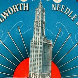 C1920's-30's Vintage Advertising Sewing Needle Book - Woolworth Building