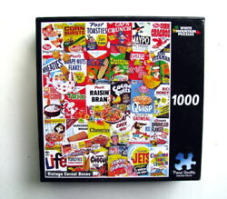 2014 Vintage Cereal Boxes White Mountain Jigsaw Puzzle 1000 Pieces 1007t New