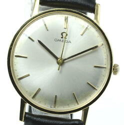 Omega 18k Yellow Gold 131004sc-62 Cal.600 Antique Hand Winding Menand039s_615593