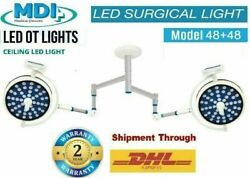 Dual Ot Lamp Surgical Operating Lights 48+48 Led Surgical Unit For Opertaion Vc