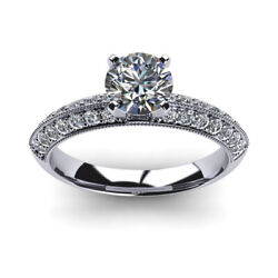 1.00 Ct Real Diamond Wedding Band For Women Solid 950 Platinum Ring Size 5 6 7 8