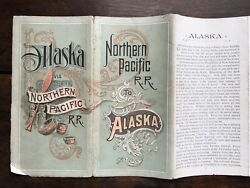 Rare 1891 Northern Pacific R.r. The Route Of The Alaska Excursion Steamer W/ Map
