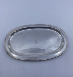 Vintage M Fred Hirsch Mfh Sterling Silver Small Platter