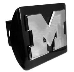 Michigan Wolverines New M Black Metal Hitch Cover [new] Ncaa Trailer Cap Truck