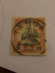 German East Africa 1905 20 Heller With Clear Tanga Stamp