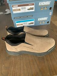 NEW Khombu Men#x27;s Liam Suede Slip On Water Resistant Shoes Brown Pick Size $17.95
