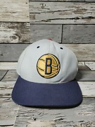 Brooklyn Nets Mitchell And Ness Snapback Hat Cap Nba Pre-owned Gold Grey
