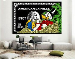 American Express Canvas - Scrooge Mcduck American Express Black Card Canvas