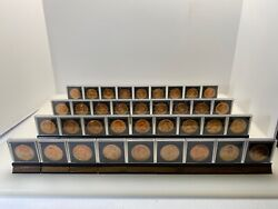 Bronze Presidential Coins Peace And Friendship Full Set With Display Case