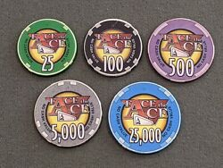 Face The Ace Poker Chips Gamed Used Nbc Tv Show Rare Vintage Collectible