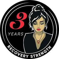 Woman Serenity 3 Year Aa/na Sobriety Medallion - Tri-plate Three Year Chip/coin