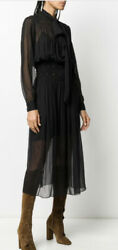 Saint Laurent - Ysl- Sheer Dress- With Tags- Rrp 3700 Aud