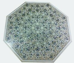 Shiny Gemstones Inlaid Living Room Table Top Marble Dining Table Size 42 Inches