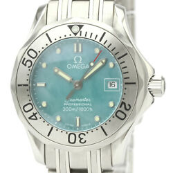 Polished Omega Seamaster Professional 300m Blue Mop Dial Watch 2085.71 Bf528684