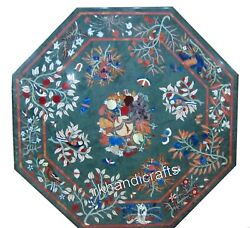 48 Inches Marble Table Top Octagon Shape Dining Table Ancient Art From India