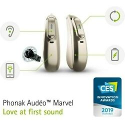 2phonak Audeo Marvel M 70 R- Rechargable Ric Hearing Aid-mild To Severe+charger