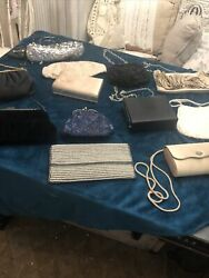 Purse Lot 12 Beautiful Handbags Clutches Evening BagsNice Collection. $40.00