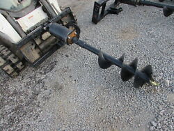 Wolverine 12 Auger Drill Attachment Skid Steer Tractor - Local Pickup Only