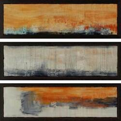 Paragon Abstract Contemporary Yesterday Pack Of 3 Wall Art 2169