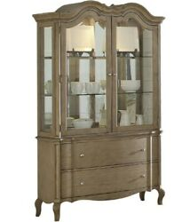 Acme Chelmsford Hutch And Buffet In Antique Taupe Finish 66054