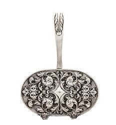 925 Sterling Silver Handmade Portuguese Oval Embossed Napkin Holder With Handle