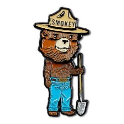 Smokey Bear Bobblehead Pin New Officially Licensed Ad Icon Fire Prevention