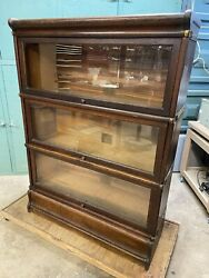 Signed Globe Wernicke 3 Stack Sectional Bookcase
