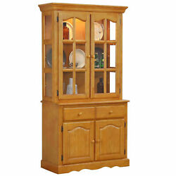 Sunset Trading Oak Selections Keepsake Buffet And Lighted Hutch Dlu-19-bh-lo