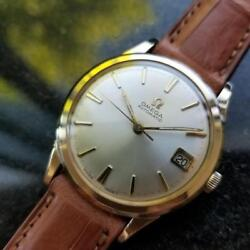Mens Omega 1960s 34mm Cal.560 10k Gold Filled Date Automatic Swiss Vintage Lv400