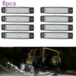 Led Rock Lights 8x White Lamp Kits For Jeep Offroad Truck Utv 4x4 Bed Under Body