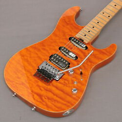 Schecter Ex-iv-ctm Frt Amber 2004 Used Quilt Maple Top Ash Back W/hard Case