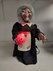 Vintage 1987 80and039s Telco Motion-ette Witch 24 Rare Halloween Pumpkin Creations