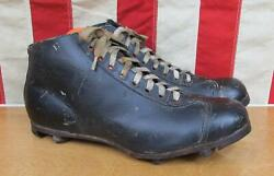 Vintage 1930s Leather Soccer Football Boots Rugby Shoes Cleats 43 Junger Antique