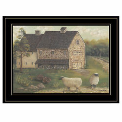 Trendydecor4u Stone Barn By Pam Britton Ready To Hang Framed Print Br131-704g